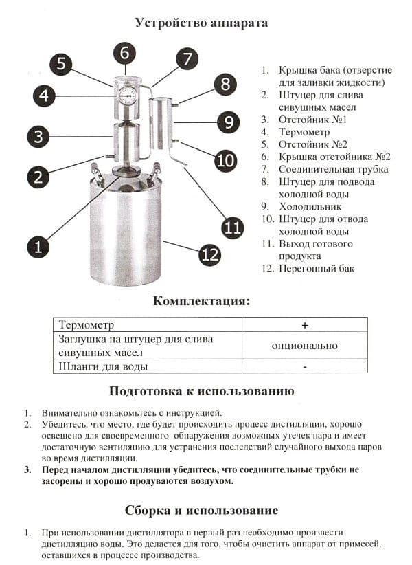 устройство оборудования для самогоноварения