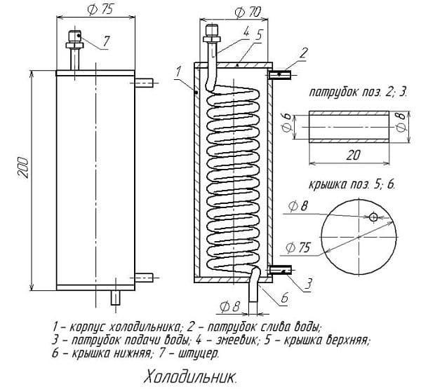 холодильник для самогонного аппарата